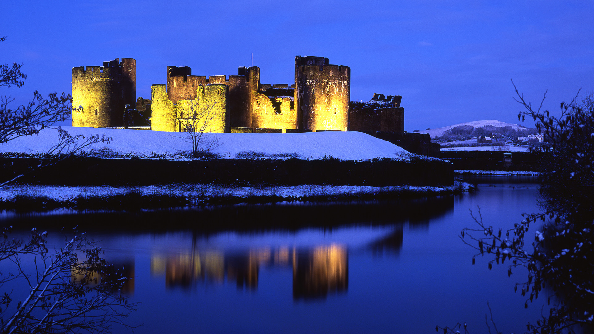 Image of Caerphilly Castle Wales