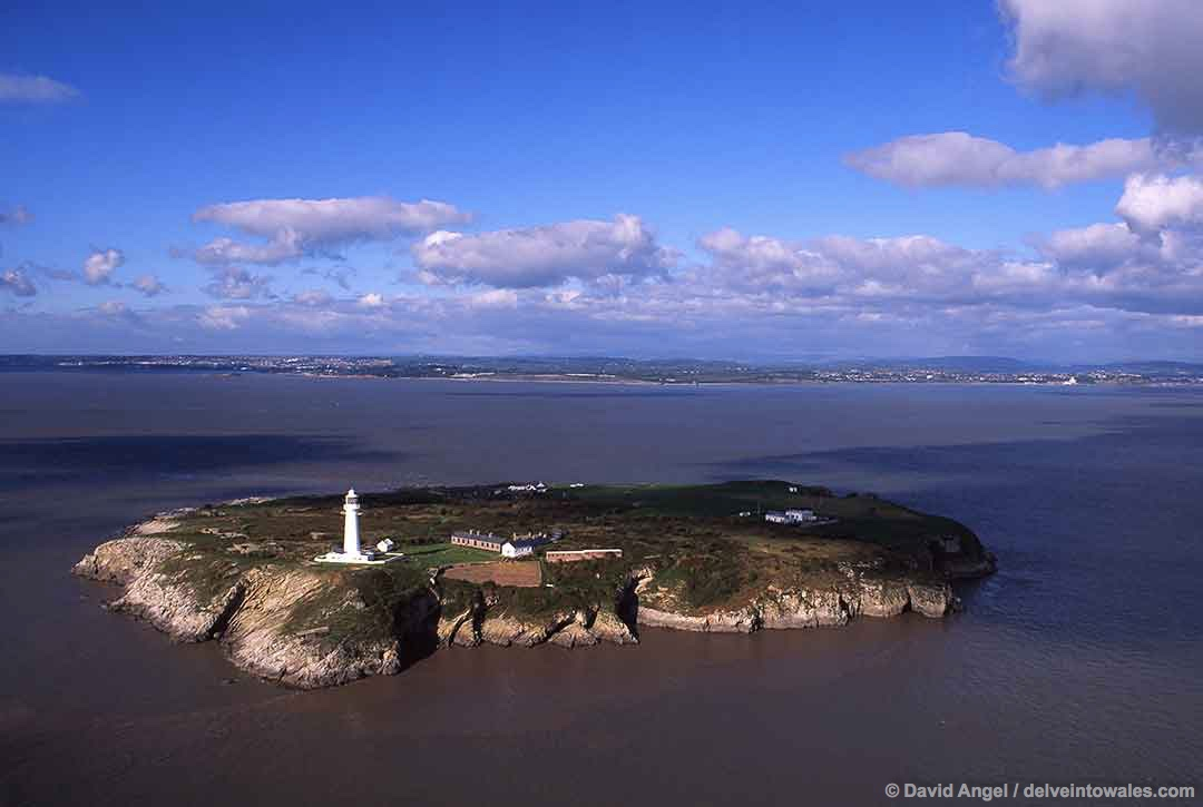 Image of Flat Holm island in the Bristol Channel