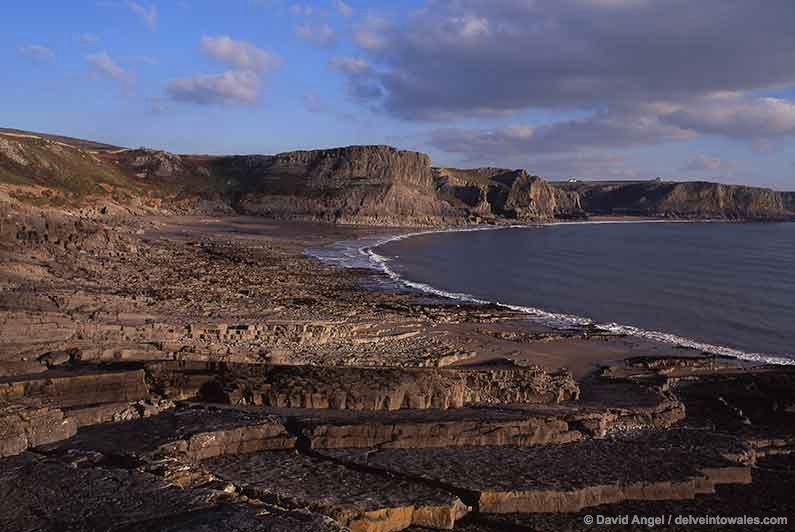 Image of Fall Bay beach, Gower Peninsula, Wales