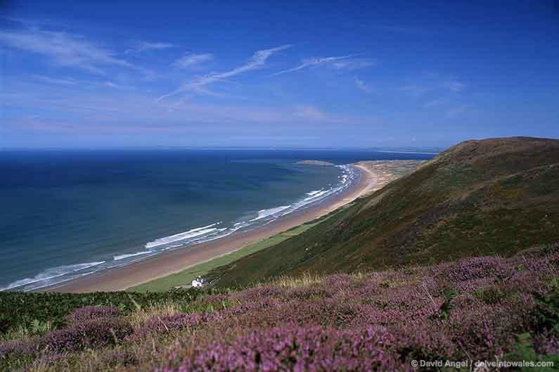 Image of Rhossili beach, Gower Peninsula, Wales