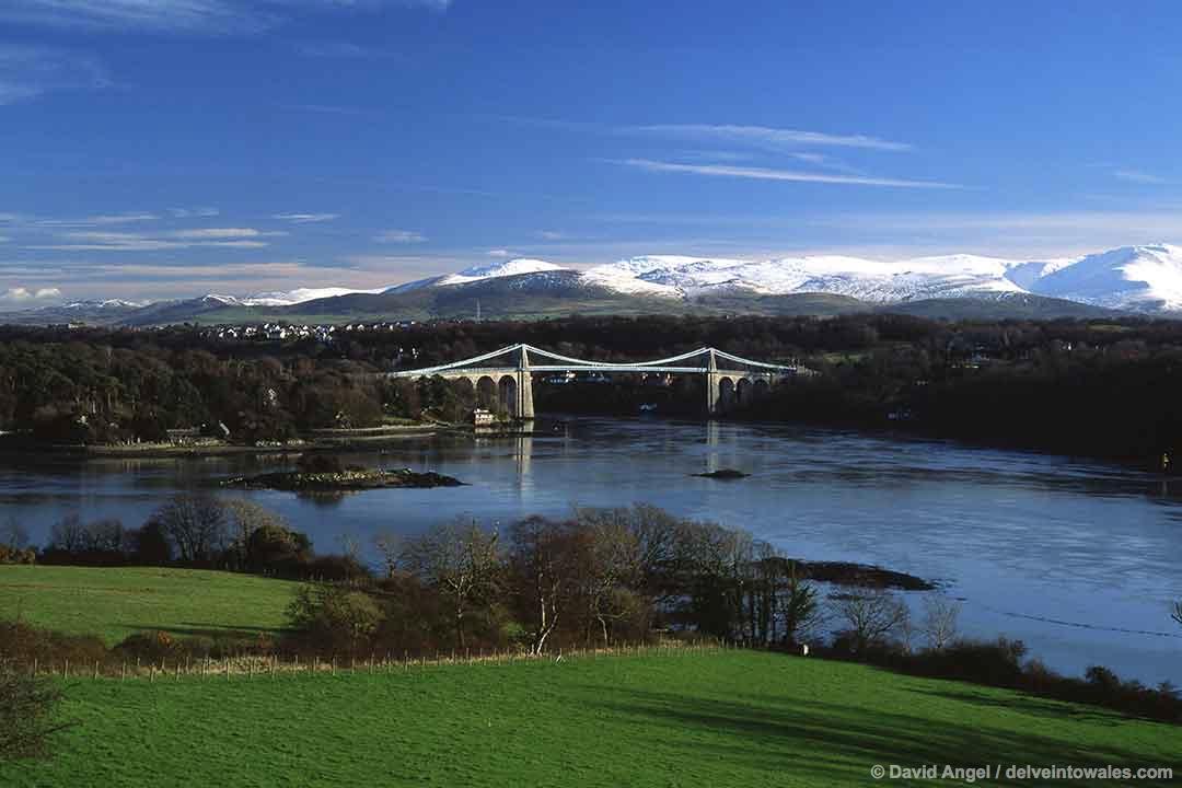 Image of the Menai Suspension Bridge, Anglesey
