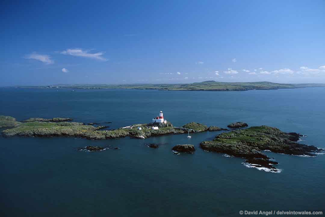 Image of the Skerries islands off the Anglesey coast