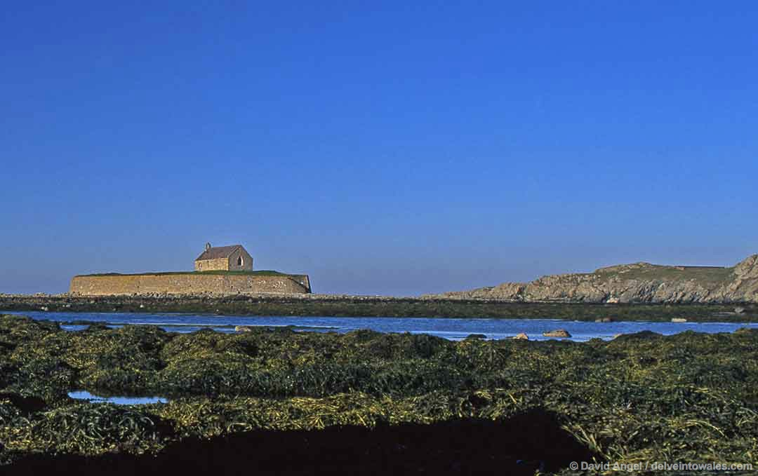 Image of Cribinau Island and St Cwyfan's Church, Anglesey